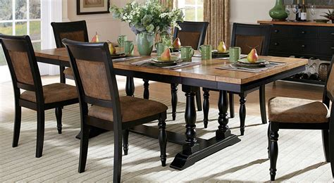 black distressed dining table homelegance grisoni dining table with two end leaves