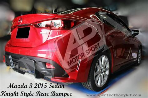 mazda   knight style rear bumper mazda mazda