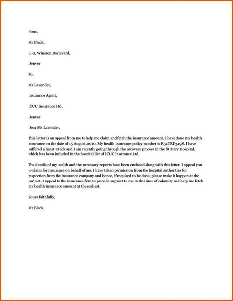 writing  appeal letter  health insurance company