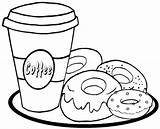 Coloring Donut Donuts Coffee Printable Yummy Coloringfolder Cream Sprinkle Shopkins Colouring sketch template
