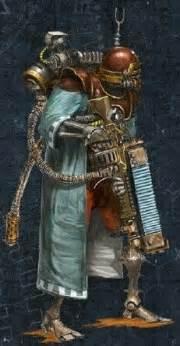 tech priest explorator  stefan ristic warhammer scifi