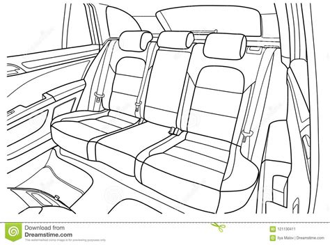 Interior Of A Car Drawing