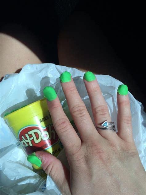 cheap neon green nail polish  walmart fun  play