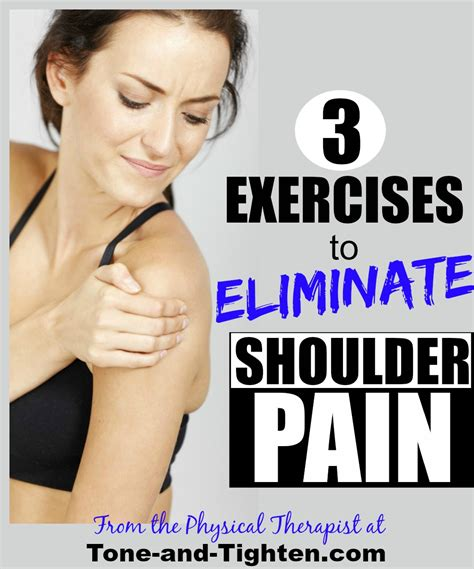 shoulder pain exercises eliminate tone tighten rid shoulders right help strong places getting lose weight