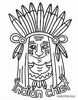Indian Coloring Pages Print Chief Hellokids sketch template