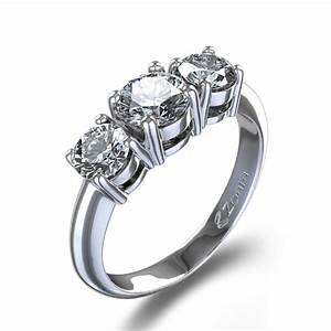 Prong set three stone diamond ring in palladium new zealand for Three stone wedding ring set