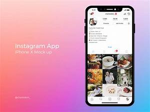 Instagram App Profile Mockup on iPhone X by Charles Koh ...