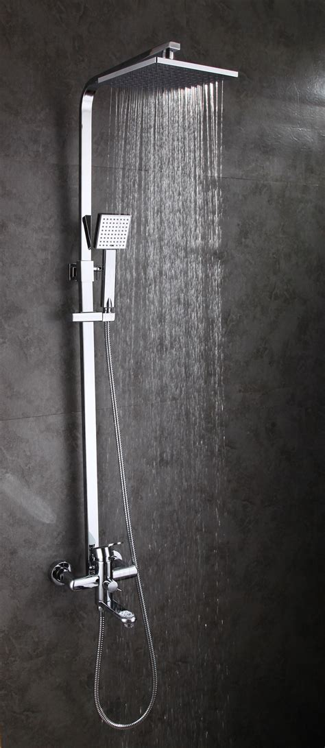 Modern Bathroom Fixture Sets by Modern Bathroom Wall Mount Shower Set With