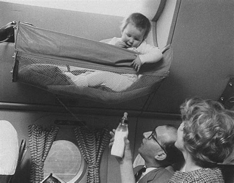 Vintage Baby 1 1950s photos reveal how babies traveled on airplanes in
