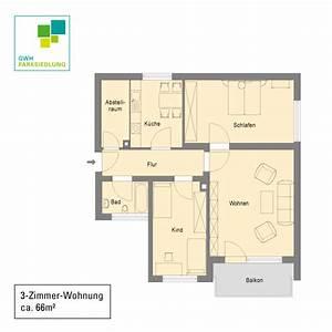 Drei Raum Wohnung : 3 zimmer wohnung mit 66 15 m gwh parksiedlung ~ Orissabook.com Haus und Dekorationen