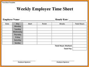 Printable Employee Timesheet Templates