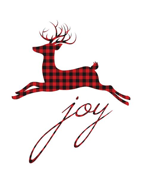 deer antlers and plaid for christmas 12 plaid buffalo check free printables more the happy housie