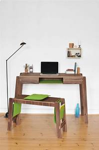 Smöly Desk And Bench With Smart Storage - DigsDigs