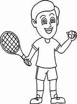 Tennis Coloring Ball Play Oy Holding Racquet Ready Ingrahamrobotics Sheets Wecoloringpage Popular sketch template