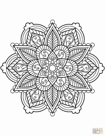 Mandala Coloring Flower Mandalas Adult Blumen Ausmalbilder