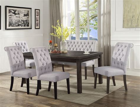 palmer dining room set  high  bench  crown mark