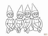 Coloring Pages Shelf Printable Elf Elves Popular sketch template