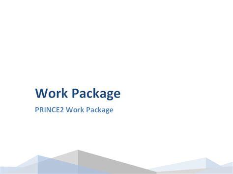 prince work package template work package