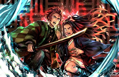 demon slayer kimetsu  yaiba uhd wallpapers wallpaper cave