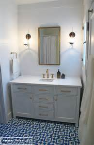 Kohler Purist Faucet Gold by Before Amp After Guest Bathroom Remodel Amber Interiors