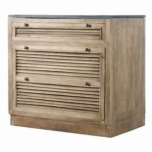 Meuble De Cuisine Bas : meuble bas de cuisine en manguier l 90 cm persiennes ~ Melissatoandfro.com Idées de Décoration
