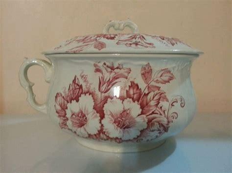 pot de chambre antique j h w sons hanley semi porcelain antique