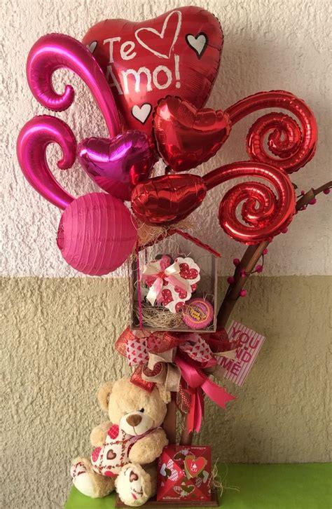 arreglo arreglos con globos y chocolates para el 14 de febrero gifts