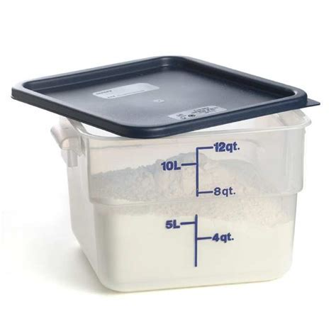 Square Container and Lid   12 qt.