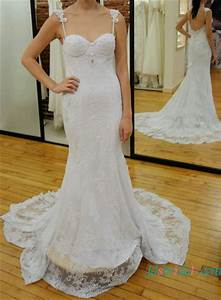 h1606 fitted lace sheath wedding dress with straps low back With sheath wedding dress low back