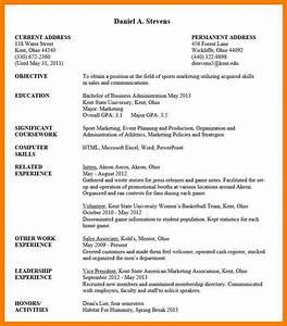 10 undergraduate student cv sample