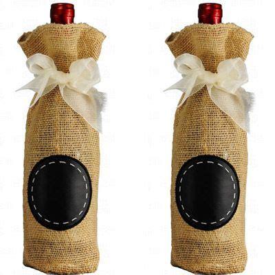 rustic burlap pouch with wine bride s maid principal