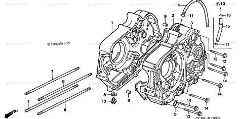 Honda Motorcycle Oem Parts Diagram For Crankcase