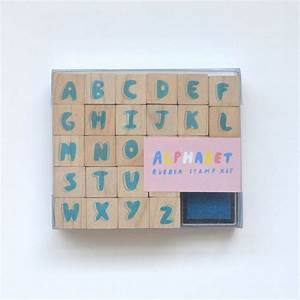 new arrivals of natural toys and german folk art at the With rubber stamp letters kit