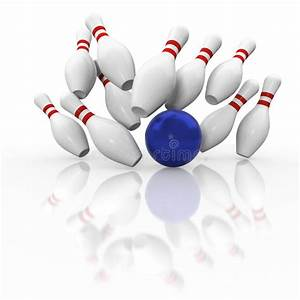 Ten Pin Bowling Graphic Strike On White Background Stock ...