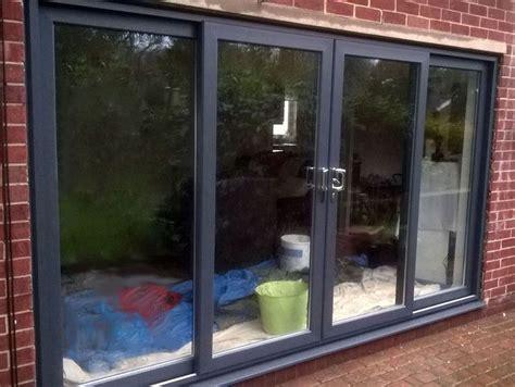 grey upvc 4 pane sliding patio door 3000 3200mm wide