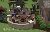 patio design pictures 855 sq. ft. - Outdoor Entertainment Patio Design with Pergola and Bar – MyPatioDesign.com