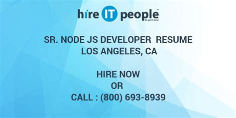 sr node js developer resume los angeles ca hire