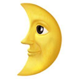 quarter moon  face emoji ufb