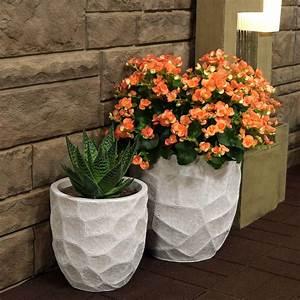 Sunnydaze, Homestead, Fiber, Clay, Planter, Flower, Pot, Durable, Indoor, Outdoor, 9