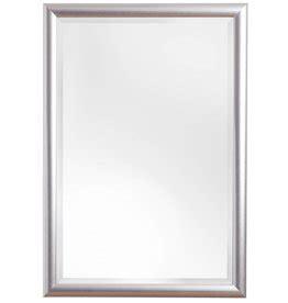 spiegel mit silbernen rahmen spiegel mit schmalem rahmen in silber kunstspiegel de