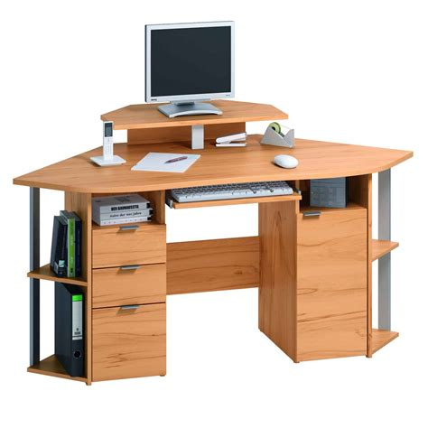stand alone desk drawers small corner computer desk for home with drawers and