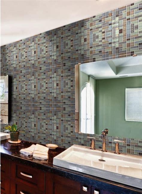 metallic tiles for bathroom metal glass tile mosaic brushed stainless steel