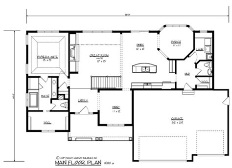 log cabin floor plans with basement the morton 1700 3 bedrooms and 2 baths the house designers