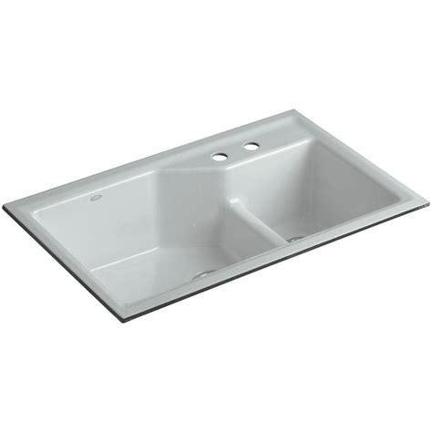 kohler iron tones smart divide sink kohler iron tones smart divide top mount undermount cast