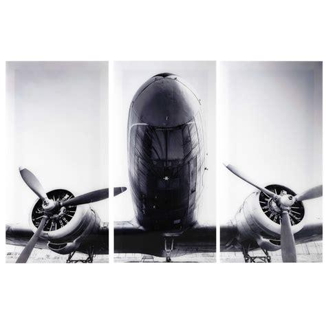 tableau chambre bébé garçon triptyque avion en plexi 120 x 180 cm aircraft maisons