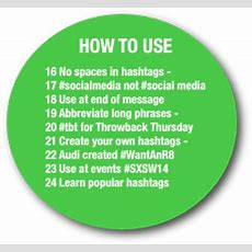 How To Use Hashtags The Ultimate Guide Infographic