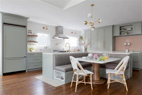 Fresh, Contemporary Kitchen With Banquette Seating