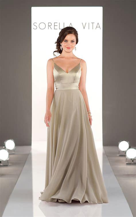 mixed fabric bridesmaid dress sorella vita bridesmaid