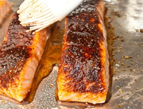 grilled salmon  maple syrup recipe