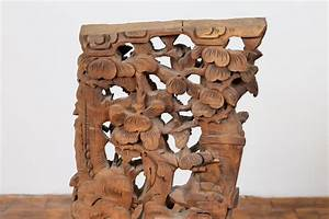 Chinese, Shanxi, 1840s, Hand, Carved, Wooden, Corbel, With, Deities, Mounted, On, Base, For, Sale, At, 1stdibs
